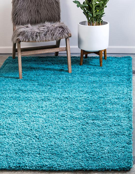 Deep Aqua Blue 5 X 8 Solid Shag Rug Area Rugs Irugs Uk
