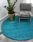6' x 6' Solid Shag Round Rug thumbnail image 1