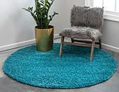 6' x 6' Solid Shag Round Rug thumbnail image 2