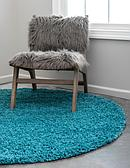 6' x 6' Solid Shag Round Rug thumbnail image 3