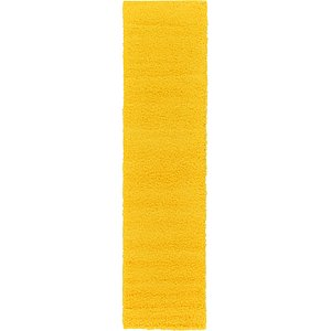 All Runners Yellow Solid Frieze  Rugs!
