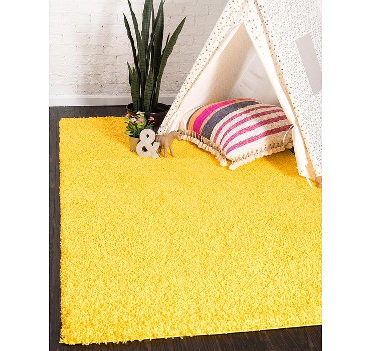 Tuscan Sun Yellow Solid Shag Rug