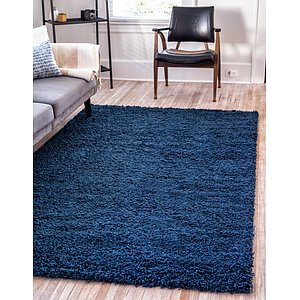 Unique Loom 4' x 6' Solid Shag Rug