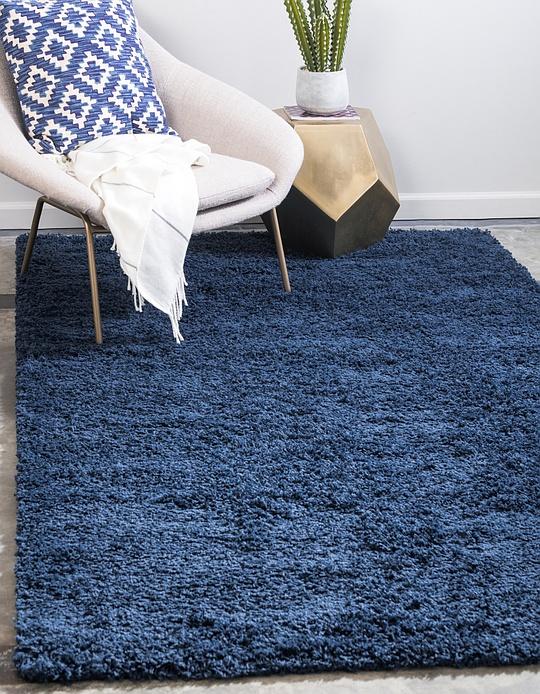 Sapphire Blue 5 X 8 Solid Shag Rug Area Rugs Esalerugs