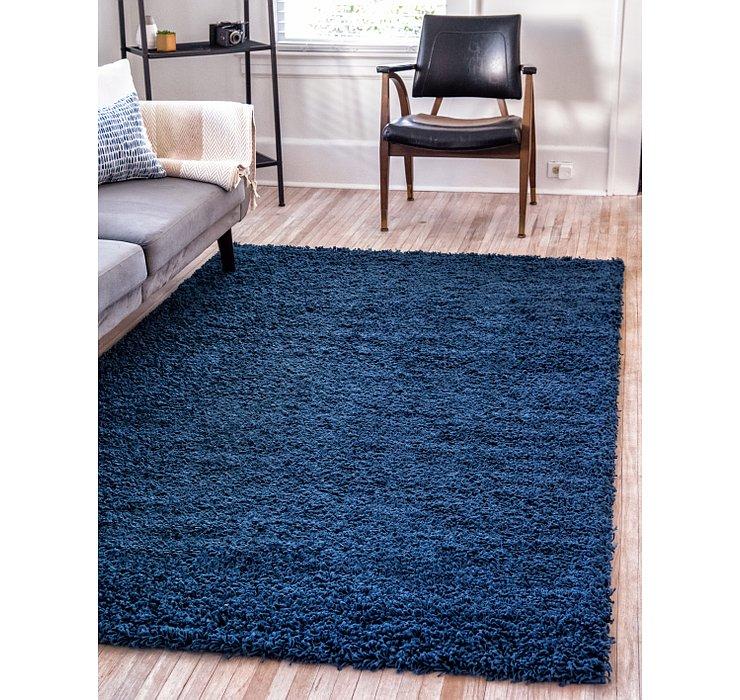 Sapphire Blue Solid Shag Rug