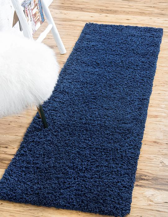Navy Blue 2 6 X 10 Solid Shag Runner Rug Area Rugs