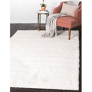 Unique Loom 6' x 9' Solid Shag Rug