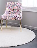8' 2 x 8' 2 Solid Shag Round Rug thumbnail image 3