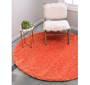 Link to 183cm x 183cm Solid Shag Round Rug