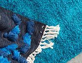8' 2 x 8' 2 Solid Shag Round Rug thumbnail image 5