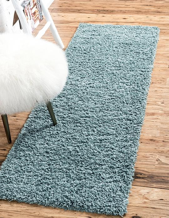 Light Slate Blue 2 6 X 10 Solid Shag Runner Rug Area