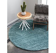 Link to Unique Loom 6' x 6' Solid Shag Round Rug