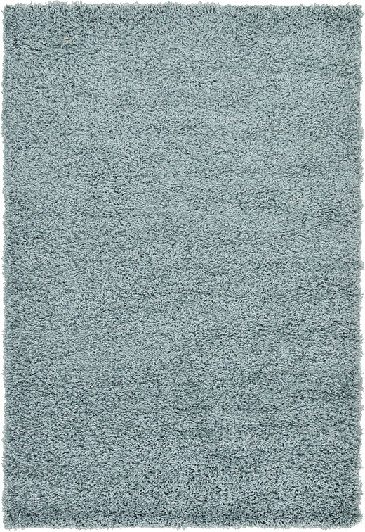 Light Slate Blue 4 X 6 Solid Shag Rug Area Rugs