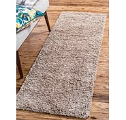Link to Unique Loom 2' 6 x 13' Solid Shag Runner Rug