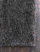 2' 6 x 19' 8 Solid Shag Runner Rug thumbnail image 8