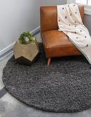 8' 2 x 8' 2 Solid Shag Round Rug thumbnail
