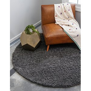 Unique Loom 8' 2 x 8' 2 Solid Shag Round Rug