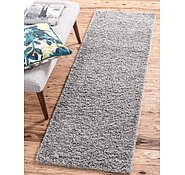 Link to Unique Loom 2' 6 x 10' Solid Shag Runner Rug