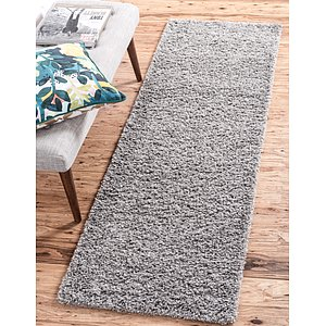 Unique Loom 2' 6 x 13' Solid Shag Runner Rug