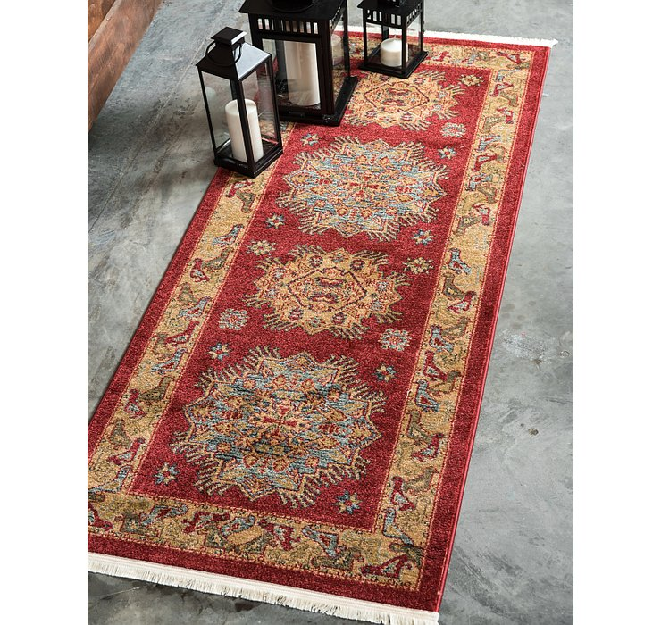 Red Sara Runner Rug