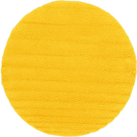 Tuscan Sun Yellow 250cm X 250cm Solid Shag Round Rug