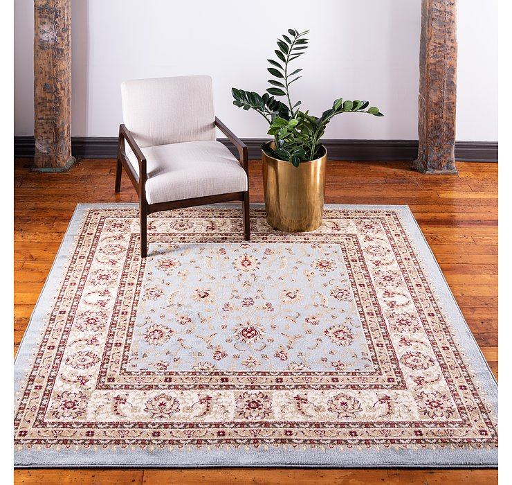 Light Blue Aditi Square Rug
