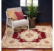Link to 4' x 4' Classic Aubusson Square Rug