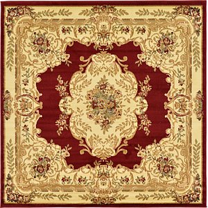 Unique Loom 6' x 6' Versailles Square Rug