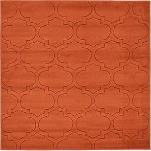 All Squares Orange Trellis  Rugs!