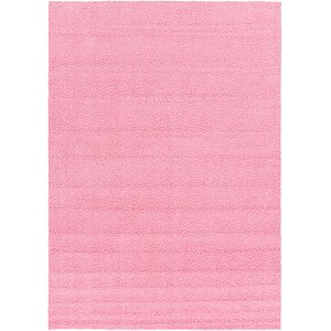 6x9 Pink Solid Frieze  Rugs!