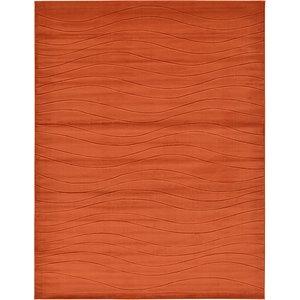 9' 10 x 13' Carved Gabbeh Rug