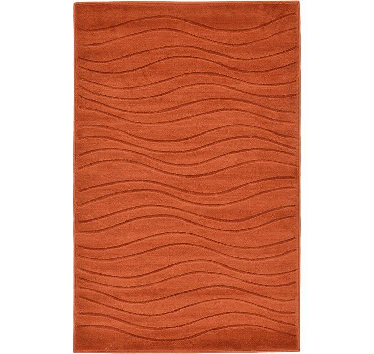 Terracotta Carved Gabbeh Rug