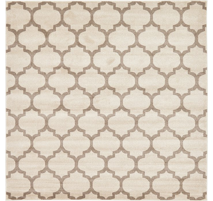 8' x 8' Lattice Square Rug