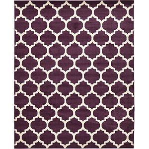 8x11 Purple Trellis  Rugs