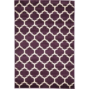 4x6 Purple Trellis  Rugs!