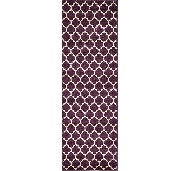 Purple Lattice Runner Rug