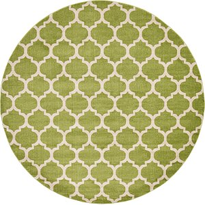 All Rounds Green Trellis  Rugs!