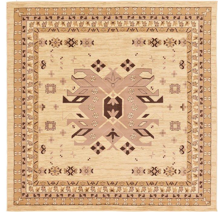 Ivory Heris Square Rug