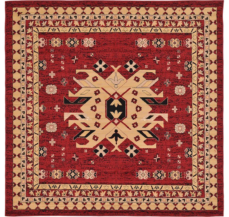 8' x 8' Heriz Design Square Rug