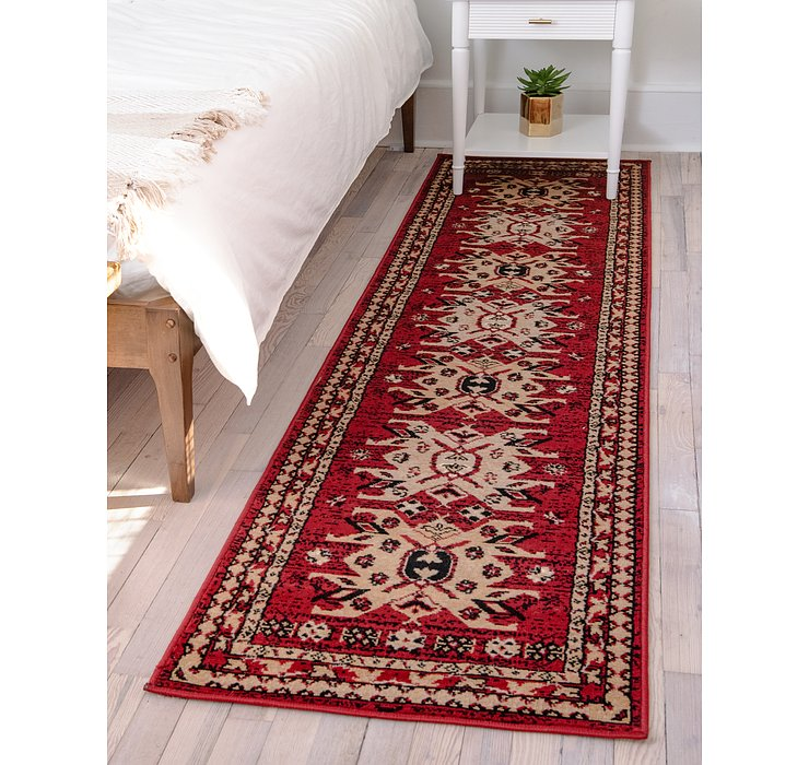 Red Heris Runner Rug