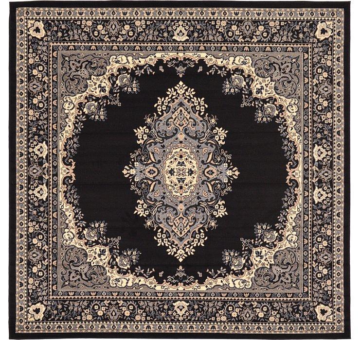 Black Amaya Square Rug