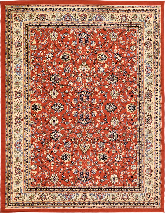 Terracotta 9 x 12 Kashan Design Rug Area Rugs