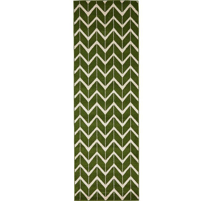 2' 7 x 8' Chevron Runner Rug