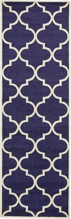 Navy Blue 2 7 X 8 Trellis Runner Rug Area Rugs Irugs Uk