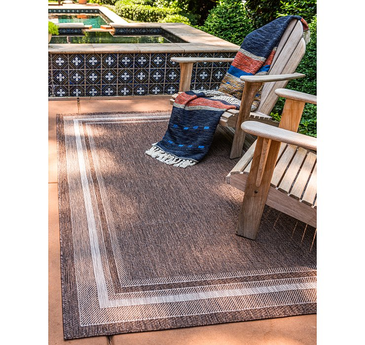 245cm x 345cm Outdoor Border Rug