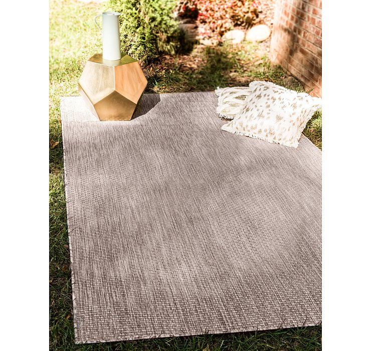 Beige Outdoor Basic Rug