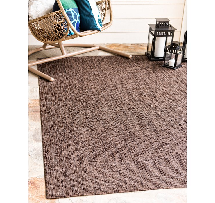 Light Brown Outdoor Basic Rug