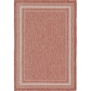 8×10 Red Outdoor  Rugs