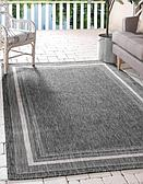 Unique Loom 5' x 8' Outdoor Border Rug thumbnail image 1