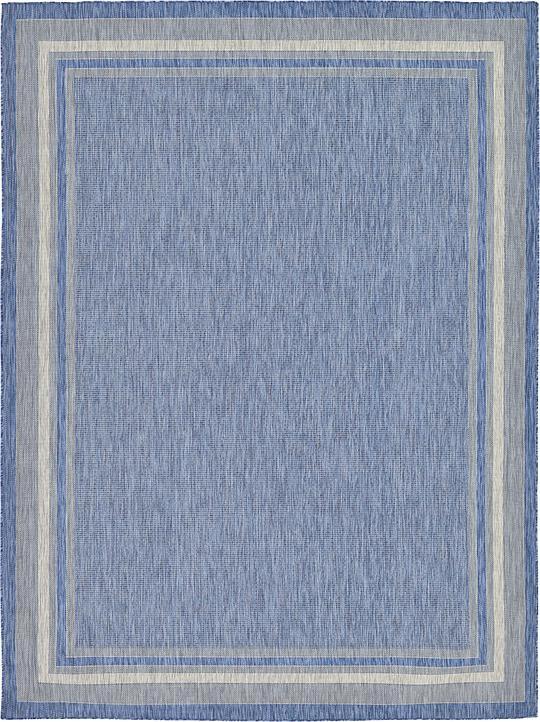 blue 9 39 x 12 39 outdoor rug area rugs irugs uk. Black Bedroom Furniture Sets. Home Design Ideas